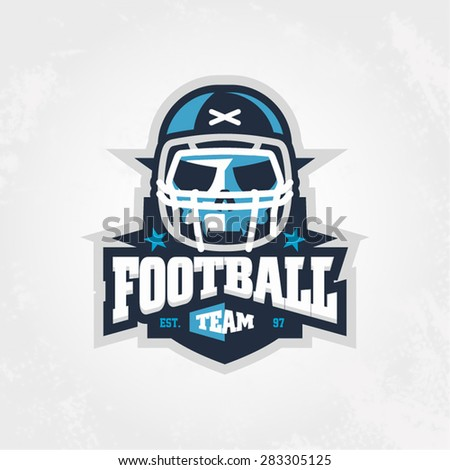 Modern professional skull in helmet logo for sport team