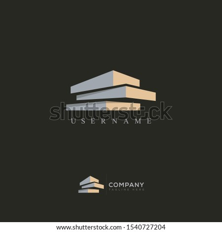 Modern Real Estate Building Logo Design, Construction Working Industry concept Icon. Residential contractor, General Contractor and Commercial Office Property business logos.