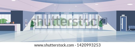 modern reception area empty no people lobby contemporary hotel hall interior flat horizontal banner