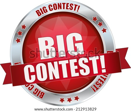 modern red big contest sign