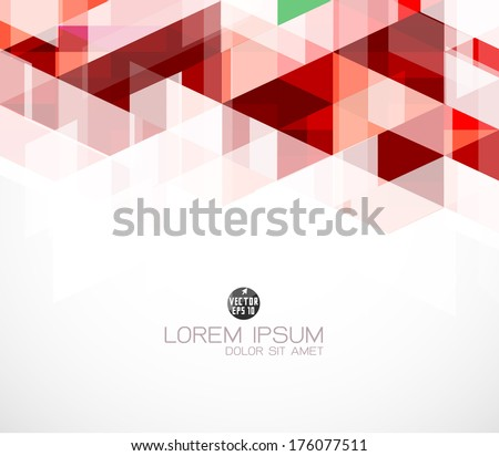 trendy red geometric brochure design template download free vector
