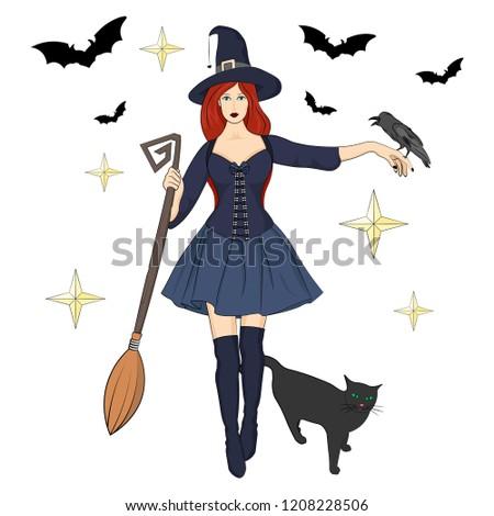 modern redhead green eyed witch