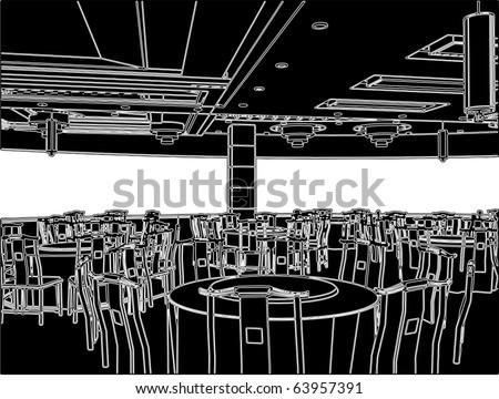Modern Restaurant Vector 02