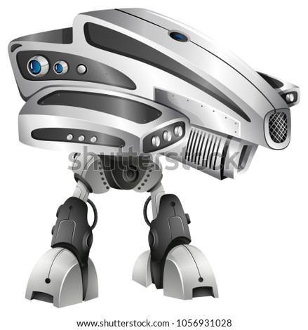 modern robot design with big