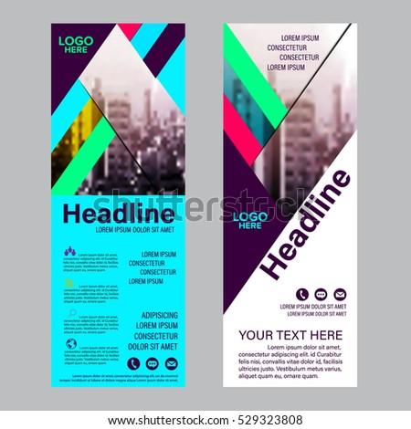 Modern Roll up layout template. flag flyer banner backdrop design. vector illustration background #529323808