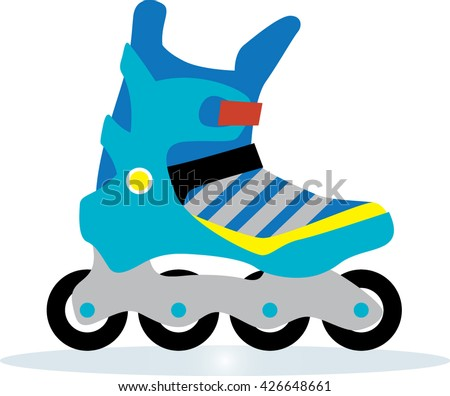 Modern Roller blades icon Isolated on white. Man style roller skates Vector illustration.