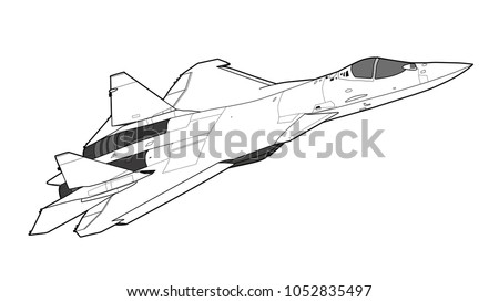 modern russian jet fighter