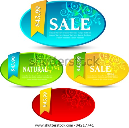 modern sale tags/banner - stock vector