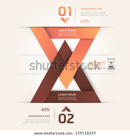 Modern sand clock origami style. Vector illustration. can be used for workflow layout, diagram, number options, step up options, web design, infographics.