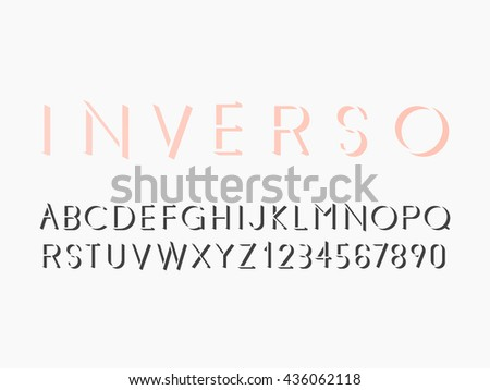 Modern sans serif font. Vector illustration EPS 10