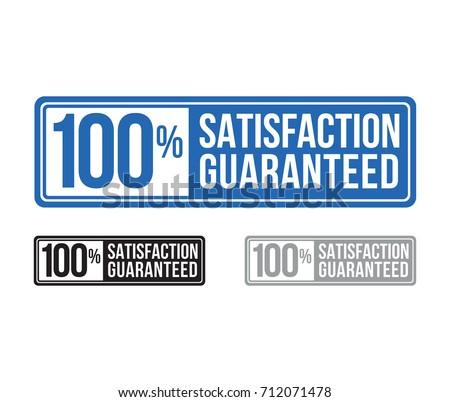 modern satisfaction guaranteed seal. label. blue. vector. set.
