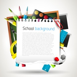 Modern school background with place for your text