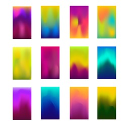 Modern screen vector background design for mobile app. Soft color gradients