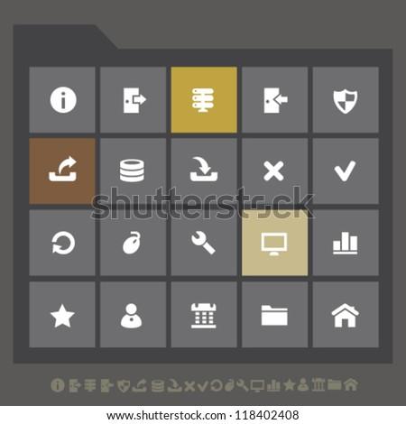modern server icons for mobile