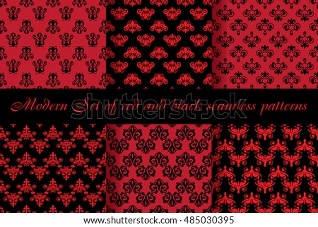 modern set of elegant red and