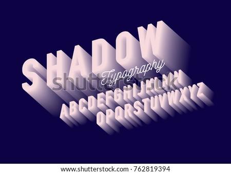 modern shadow/ gradient typography design vector