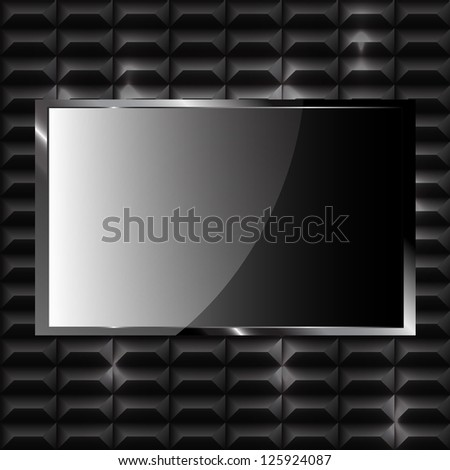 Modern shiny titanium pattern - background concept - stock vector