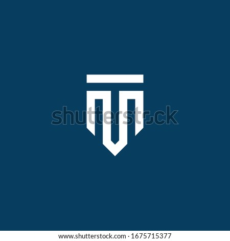 Modern Simple and Elegant Initials Letter M and T Logo Designs Stock fotó ©