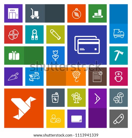 Modern, simple, colorful vector icon set with creative, tool, banking, cocktail, box, debit, food, entrance, gift, glass, spanner, card, room, hospital, medicine, equipment, money, office, lift icons #1113941339