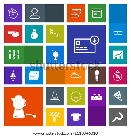 Modern, simple, colorful vector icon set with step, fahrenheit, farming, east, teapot, agriculture, temperature, up, scale, harvesting, direction, finance, north, ladder, concept, ship, sack icons