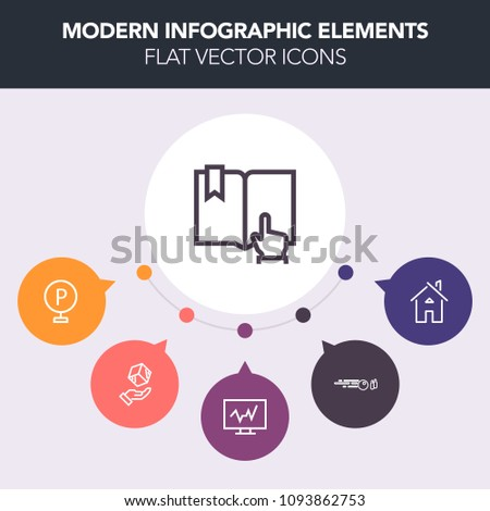 Airstock is - Modern, simple, colorful vector infographic background