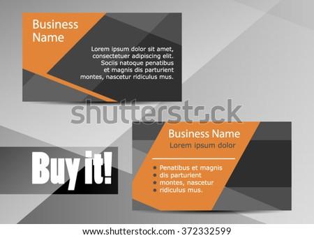 Moderne orange and black business card download free vector art modern simple light business card template flat design vector illustration black and orange colourmoves