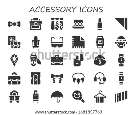 modern simple set of accessory