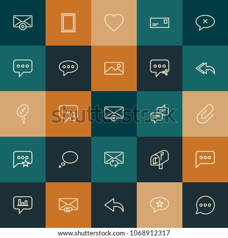 Modern Simple Set of chat and messenger, email Vector outline Icons. 