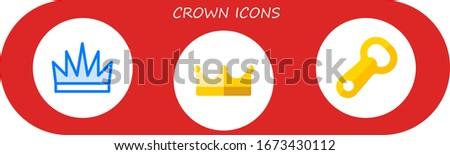 modern simple set of crown