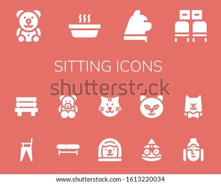 modern simple set of sitting