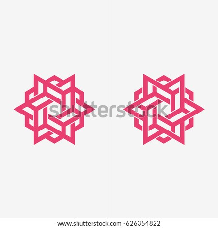 Modern simple shape, abstract vector logo or element design set. Best for identity and logotypes.
