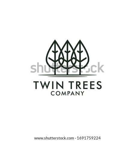 modern simple trees logo with