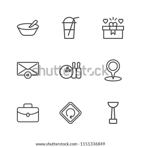 Modern Simple Vector icon set. Contains Icons  heart,  diet,  love, sport, portfolio,  business,  pin,  iced,  game,  loop,  day,  case,  highway,  work, location,  traffic,  cup,  bowling,  porridge