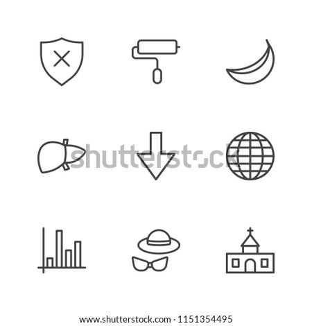 Modern Simple Vector icon set. Contains Icons  leisure,  muscle,  business,  religion,  close up,  medical,  globe,  god, banana,  physically, arrow,  fun, global,  brush,  diagram,  faith,  holiday