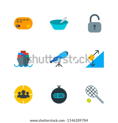 Modern Simple Vector icon set. Contains Icons  porridge,  money,  protection,  sea, security, breakfast,  discovery,  chronometer,  safe,  buy,  paying,  leisure,  stopwatch,  customer, telescope