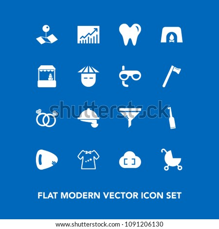 modern  simple vector icon set