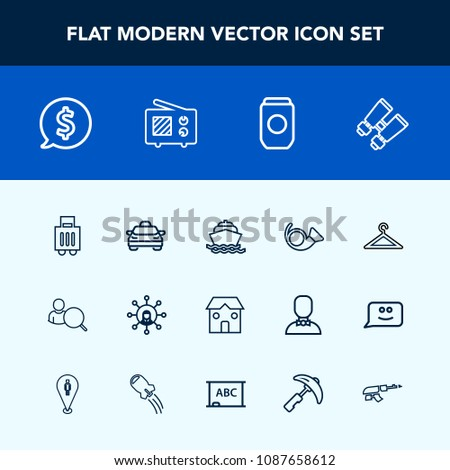 Airstock is - Modern, simple vector icon set with business