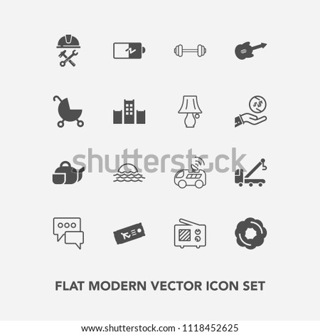Airstock is - Modern, simple vector icon set with chat, car