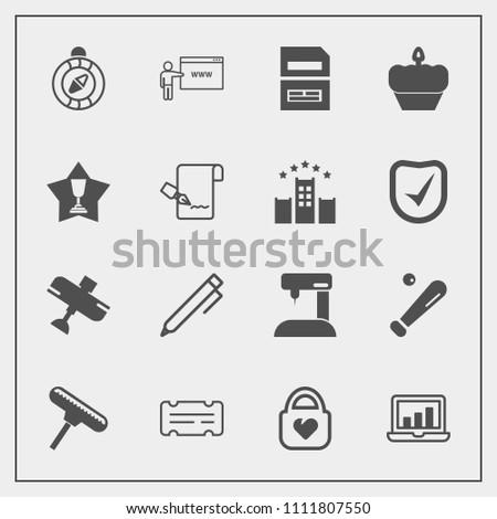 modern  simple vector icon set