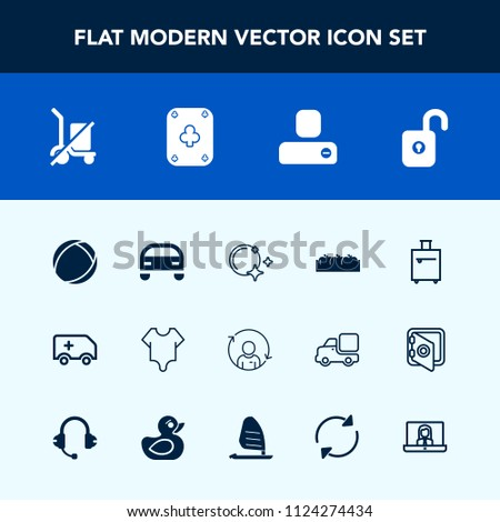 Airstock is - Modern, simple vector icon set with healthy
