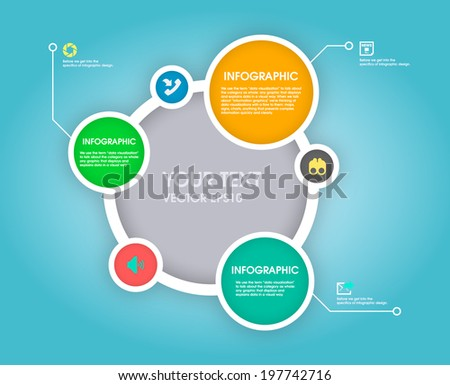 Modern Simply infographic template ,Vector illustration. can be used for workflow layout, diagram, social media plan , business plan, web template, infographics #197742716