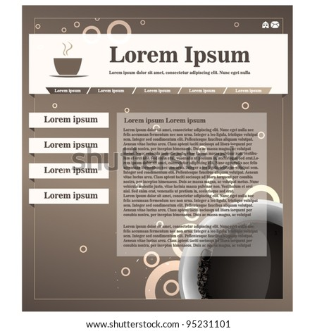 Modern small web page template - coffee theme