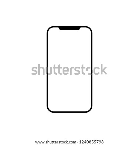 Modern Smartphone icon. Vector illustration, flat design.