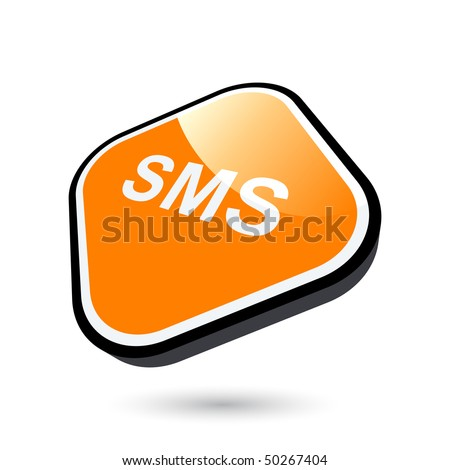 stock vector : modern sms  sign