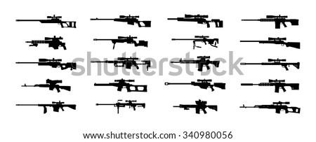 modern sniper rifles set