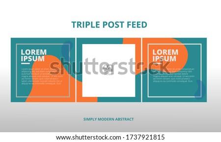 modern social media post feed, blue, retro, instagram feed, instagram template, instagram frame, minimalist.