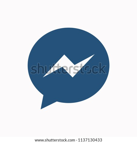 modern Social network notification icon.  message (Chats, Comments) icon, Online messaging . Vector illustration.