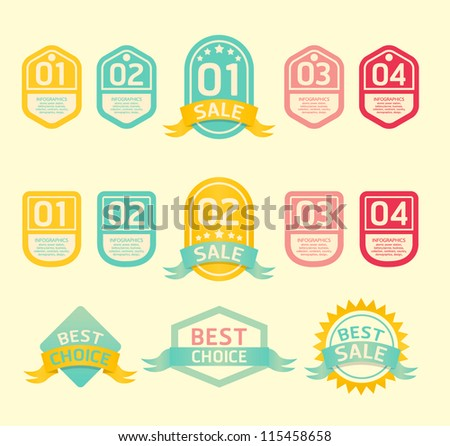 Modern soft color  Design label  / can be used for infographics / numbered banners / horizontal cutout lines / graphic or website layout vector