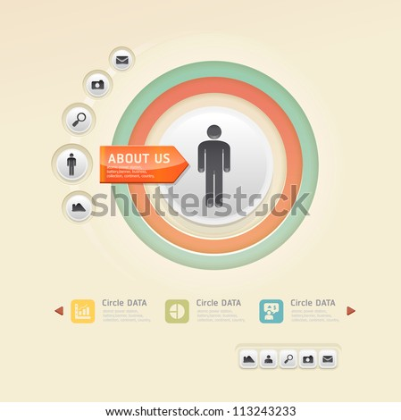Modern soft color Design template / can be used for infographics / numbered banners /  graphic or website layout vector - stock vector