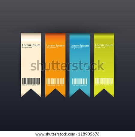 Modern soft color Design template / can be used for infographics / numbered banners / vertical cutout lines / graphic or website layout vector/Vertical - stock vector